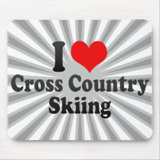 I love Cross Country Skiing Mouse Pads