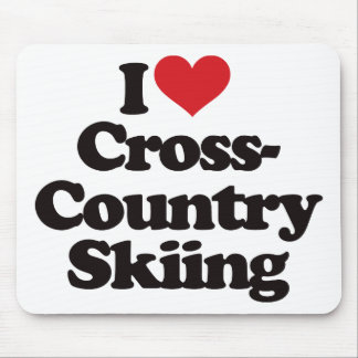 I Love Cross Country Skiing Mouse Pad