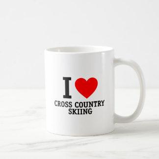 I Love Cross Country Skiing Coffee Mugs
