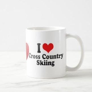 I Love Cross Country Skiing Mug
