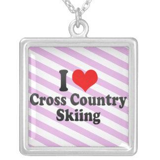 I love Cross Country Skiing Pendants