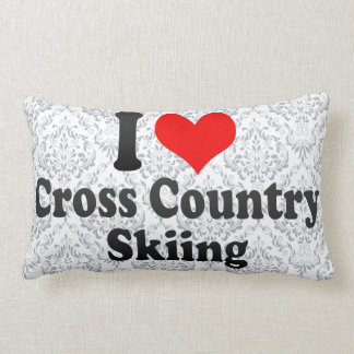 I love Cross Country Skiing Pillow