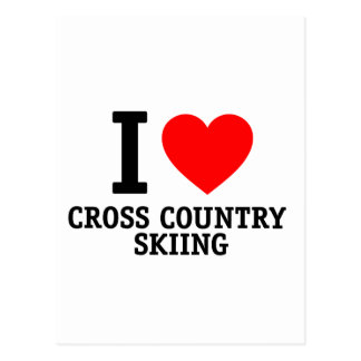 I Love Cross Country Skiing Postcards