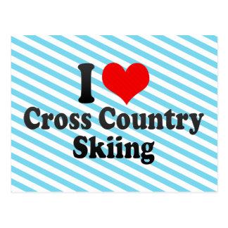 I love Cross Country Skiing Postcard