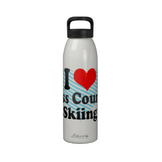 I love Cross Country Skiing Water Bottle