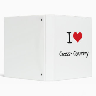 I love Cross-Country Vinyl Binder