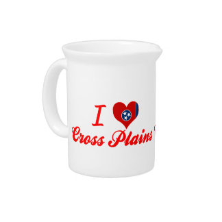 I Love Cross Plains, Tennessee Beverage Pitcher