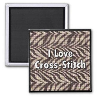 I Love Cross-Stitch Magnet