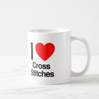 i love cross stitches mug