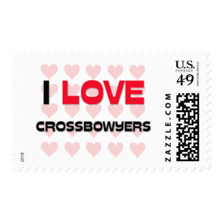 I LOVE CROSSBOWYERS POSTAGE STAMPS