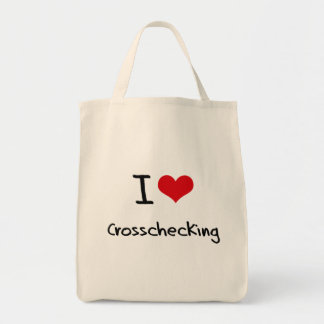 I love Crosschecking Grocery Tote Bag