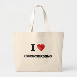 I love Crosschecking Large Tote Bag