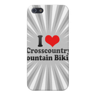 I love Crosscountry Mountain Biking iPhone 5 Cover
