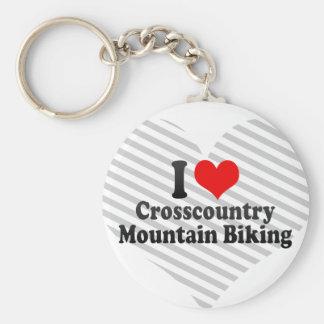 I love Crosscountry Mountain Biking Key Chain