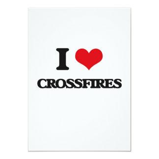 I love Crossfires 5x7 Paper Invitation Card