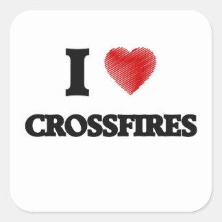I love Crossfires Square Sticker