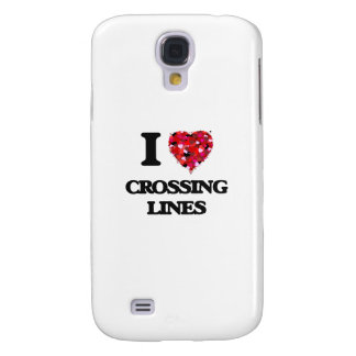 I love Crossing Lines Samsung Galaxy S4 Cover