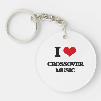 I Love CROSSOVER MUSIC Keychains