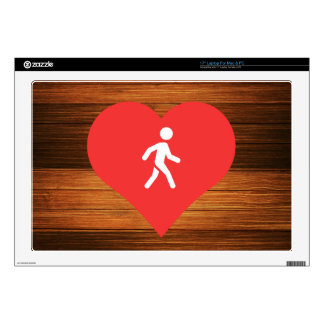 I Love Crosswalk Signs Design Laptop Decal