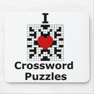 I Love Crossword Puzzles Mouse Pad