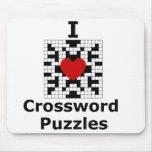 I Love Crossword Puzzles Mousepads