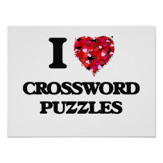 I love Crossword Puzzles Poster