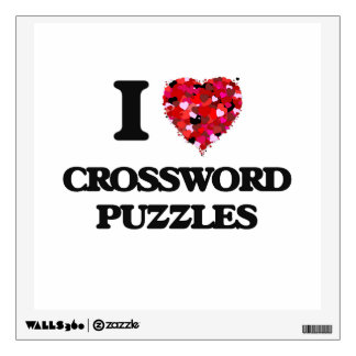 I love Crossword Puzzles Room Decal