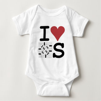 I Love Crosswords Clothing and Accessories Baby Bodysuit
