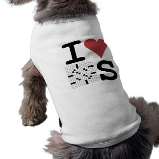I Love Crosswords Clothing and Accessories Dog Clothes