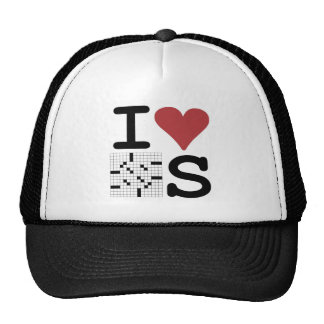 I Love Crosswords Clothing and Accessories Trucker Hat