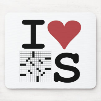 I Love Crosswords Clothing and Accessories Mouse Pad