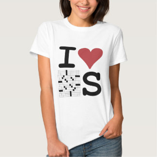 I Love Crosswords Clothing and Accessories Shirt