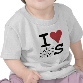 I Love Crosswords Clothing and Accessories Tshirt