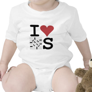 I Love Crosswords Clothing and Accessories T Shirts