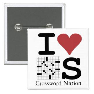 I Love Crosswords Rebus Button
