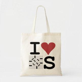 I Love Crosswords Tote Budget Tote Bag