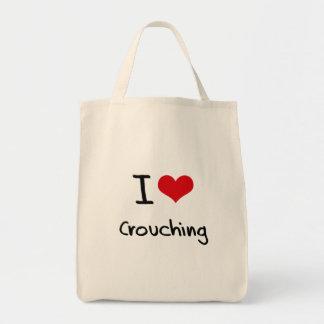 I love Crouching Canvas Bag