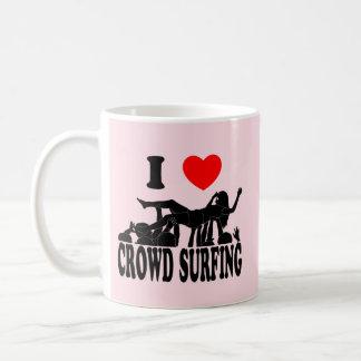 I Love Crowd Surfing (female) (blk) Coffee Mug