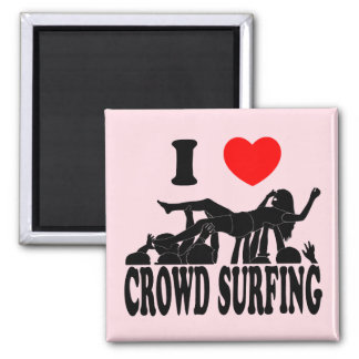 I Love Crowd Surfing (female) (blk) Magnet