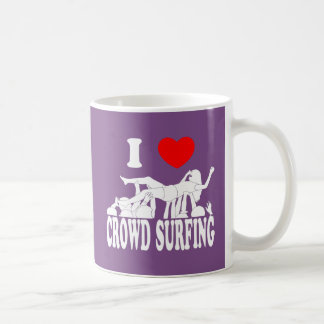 I Love Crowd Surfing (female) (wht) Coffee Mug