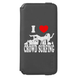I Love Crowd Surfing (female) (wht) iPhone 6/6s Wallet Case