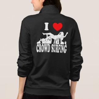 I Love Crowd Surfing (female) (wht) Jacket