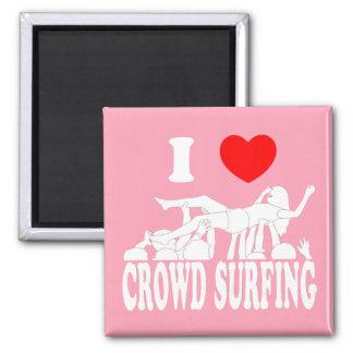 I Love Crowd Surfing (female) (wht) Magnet