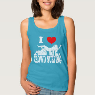 I Love Crowd Surfing (female) (wht) Tank Top