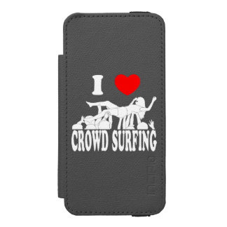 I Love Crowd Surfing (female) (wht) Wallet Case For iPhone SE/5/5s