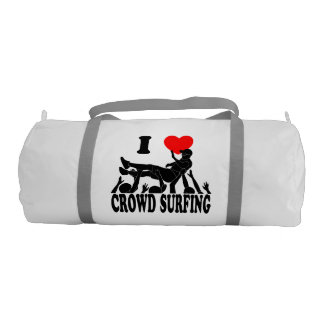 I Love Crowd Surfing (male) (blk) Duffle Bag