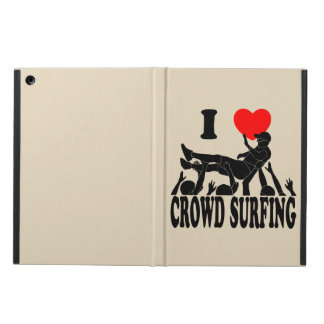 I Love Crowd Surfing (male) (blk) iPad Air Case