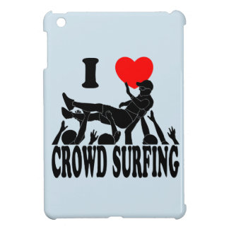 I Love Crowd Surfing (male) (blk) iPad Mini Cover