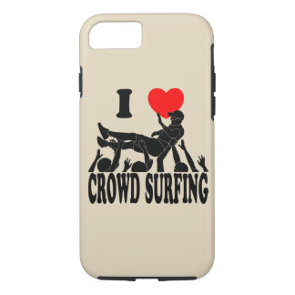 I Love Crowd Surfing (male) (blk) iPhone 8/7 Case