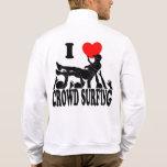 I Love Crowd Surfing (male) (blk) Jacket